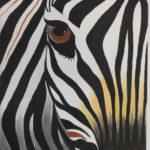 нарисованная зебра